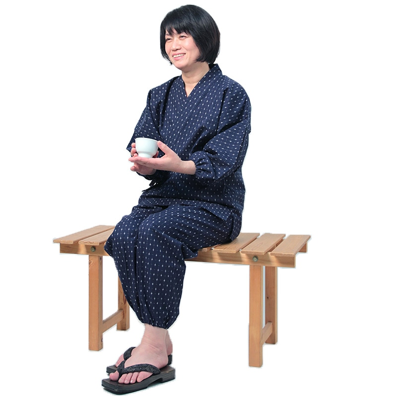 作務衣「十字織り」モデル着用写真