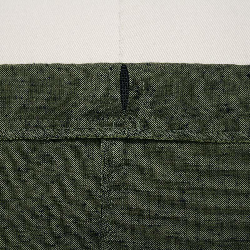 作務衣「紬織り」ウエスト写真