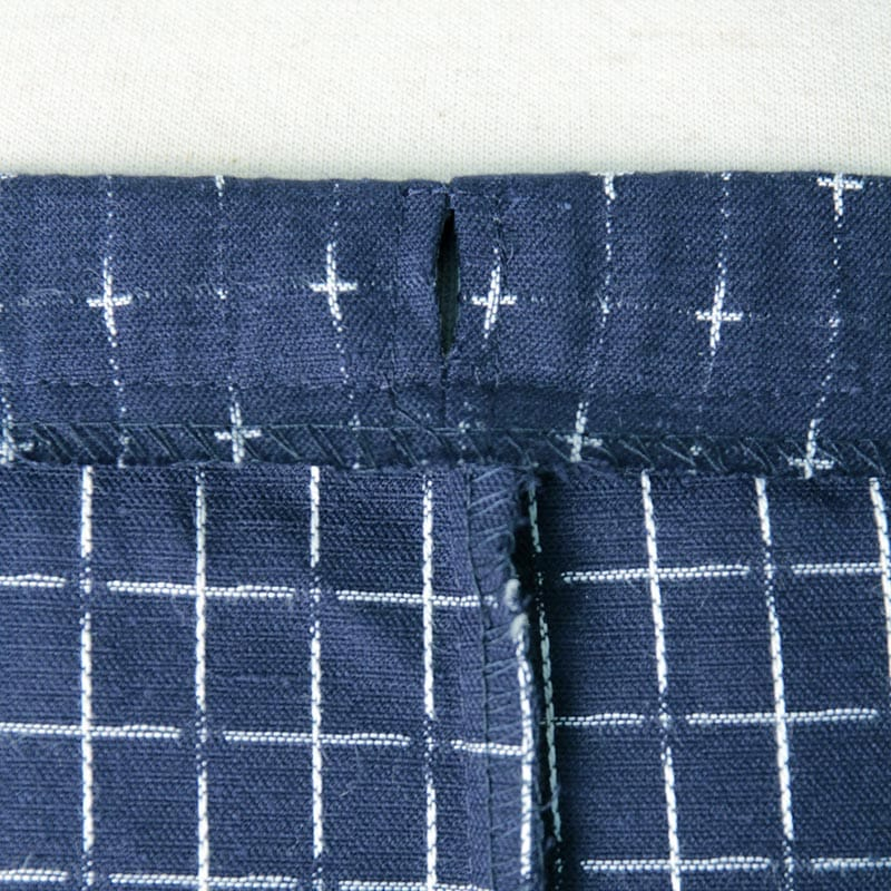 作務衣「十字織り」ウエスト写真