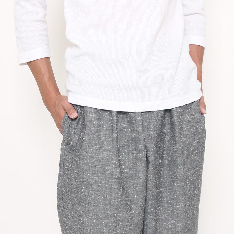 作務衣「紬織り」ポケット写真