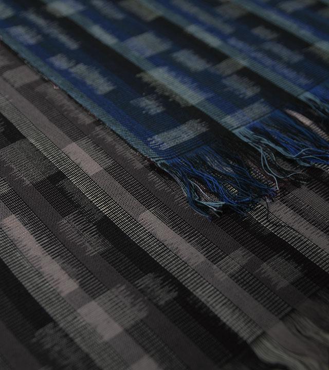 久留米絣「氷積」の写真