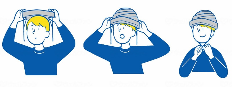 避難用簡易保護帽 でるキャップ DERUCAP デルキャップ でるきゃっぷ コンパクトタイプ 1枚入り[タイカ(Taica)]