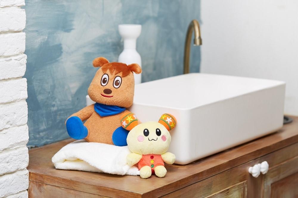 洗えるぬいぐるみシリーズ 洗い方の写真 STEP1