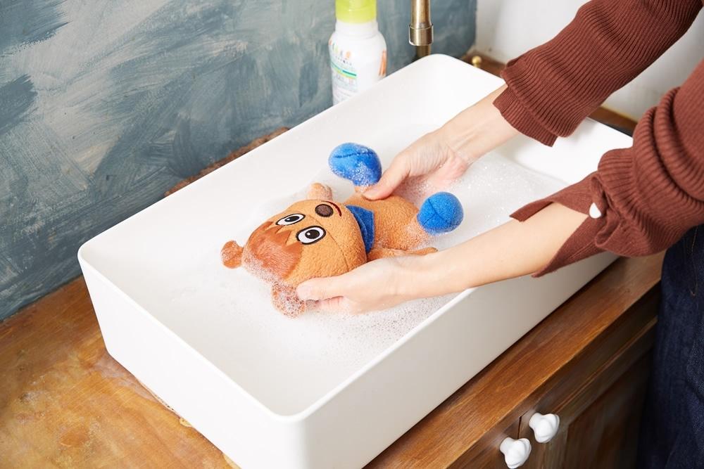 洗えるぬいぐるみシリーズ 洗い方の写真 STEP2