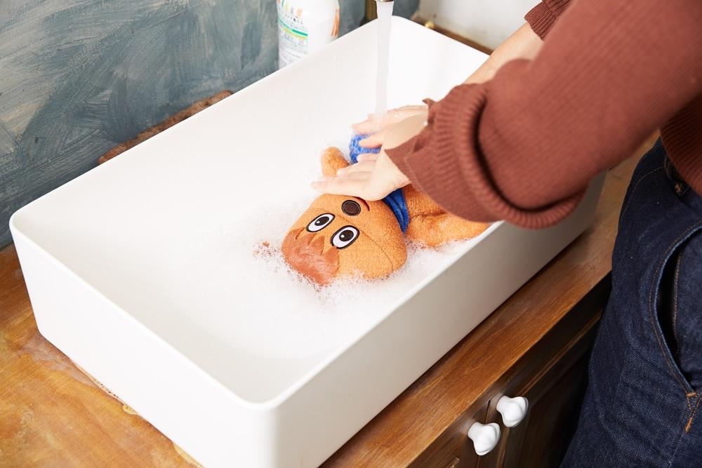 洗えるぬいぐるみシリーズ 洗い方の写真 STEP3