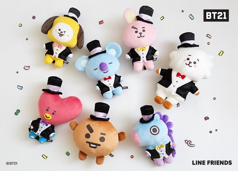 BT21 Let's party with you ぬいぐるみ 商品写真