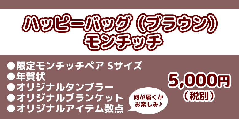 SFDS限定 ハッピーバッグ2020 ブラウン 商品情報