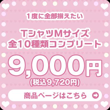 セット Tシャツコレクション Mサイズ全10種類コンプリートパック 9,000円+税