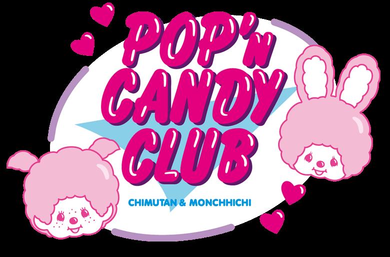 POP'n CANDY CLUB チムたん&モンチッチちゃん ロゴ