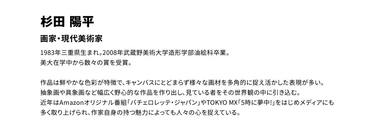 杉田陽平 アーティスト紹介