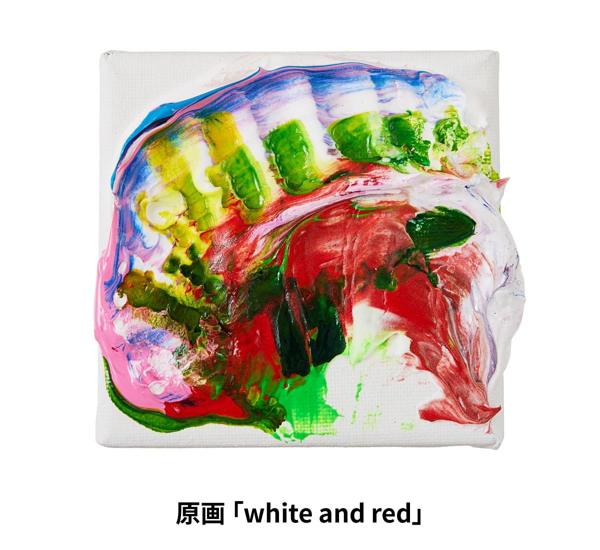 原画 「white and red」