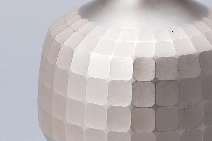 純銀 角紋花瓶