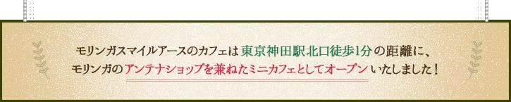モリンガスマイルアースのカフェは東京神田駅北口徒歩1分の距離に、   モリンガのアンテナショップを兼ねたミニカフェとしてオープンいたしました!
