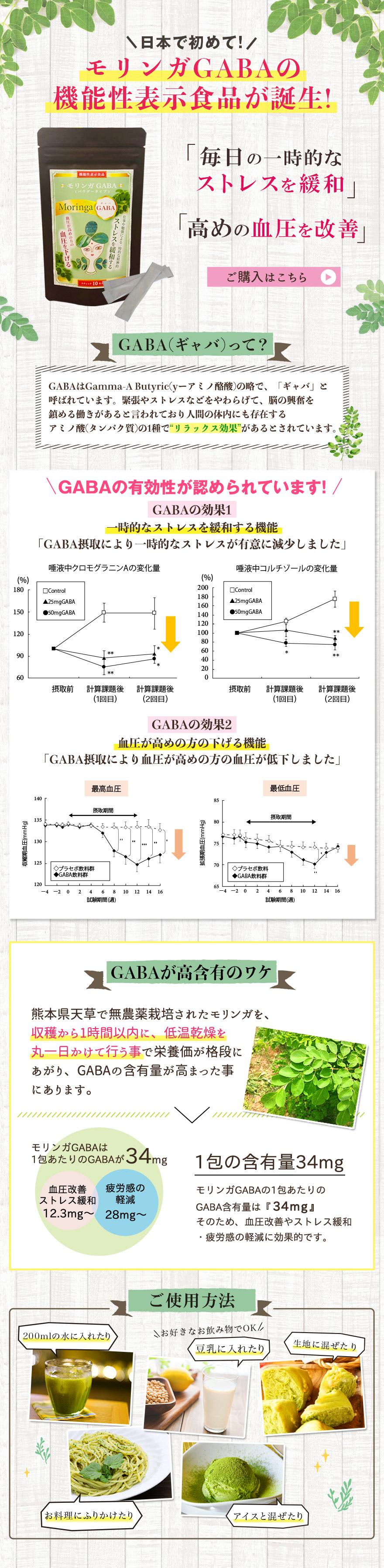 日本で初めて!モリンガGABAの機能性表示食品が誕生!