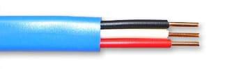 VVF ケーブル 2mm 3心 青 平形