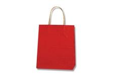 赤色無地手提げ紙袋