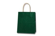 緑色無地手提げ紙袋