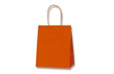 オレンジ無地手提げ紙袋