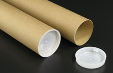 キャップ付き紙管