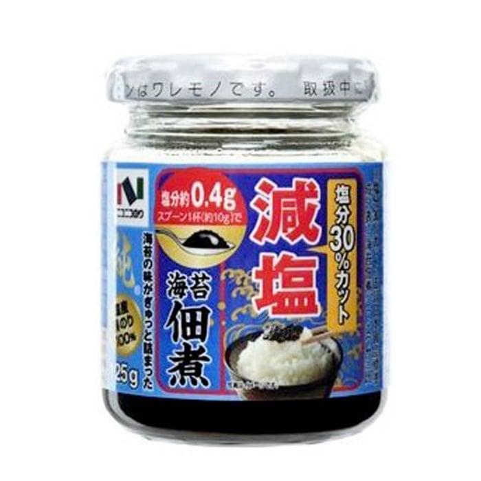 塩分30%カット 減塩 海苔佃煮 (のりつくだに) 純 国産黒のり100%
