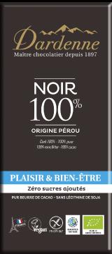 ダーデン社の砂糖不使用 アガベの甘み 有機チョコレートダークカカオ100%