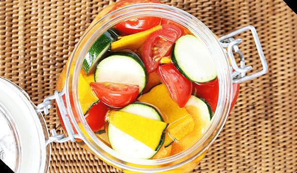 甘くてさっぱり。ポリポリおいしい♪夏野菜のピクルス