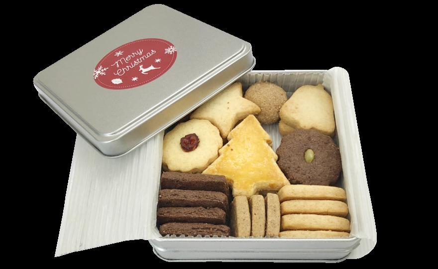 国産小麦のクリスマスクッキー