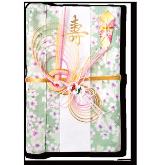 ご祝儀袋 結姫 白梅(コットン)花風呂敷