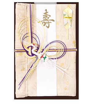 ご祝儀袋 結姫 白梅(コットン)舞蝶黄金