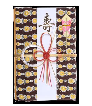 ご祝儀袋 結姫 白梅(コットン)英国茶花