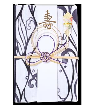 ご祝儀袋 結姫 白梅(コットン)波風呂敷
