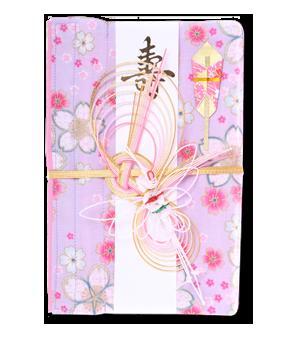 ご祝儀袋 結姫 白梅(コットン)桜山葵花