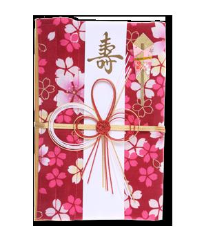 ご祝儀袋 結姫 白梅(コットン)杏姫彩桜