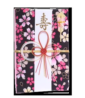 ご祝儀袋 結姫 白梅(コットン)一風桜欄