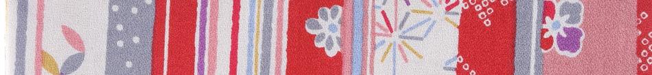 ご祝儀袋 結姫 musubime 白梅(コットン)赤縞和柄 height=