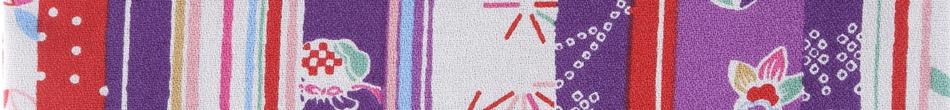 ご祝儀袋 結姫 musubime 白梅(コットン)紫縞和柄 height=