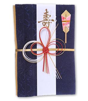 ご祝儀袋 結姫 青竹(ポリエステル)藍色輝華