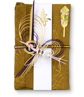 祝儀袋 結姫 青竹(ポリエステル)織柄山吹