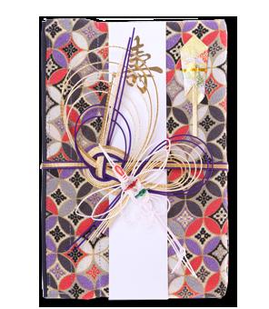 ご祝儀袋 結姫 青竹(ポリエステル)毛毬紫白