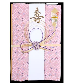 ご祝儀袋 結姫 青竹(ポリエステル)桃色小紋