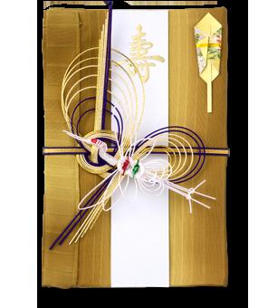 ご祝儀袋 結姫 赤松(シルク)縦縞豪金