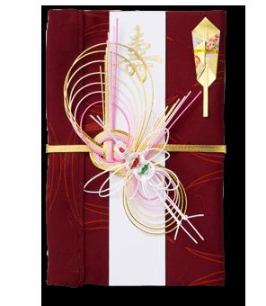 ご祝儀袋 結姫 赤松(シルク)紅花風車