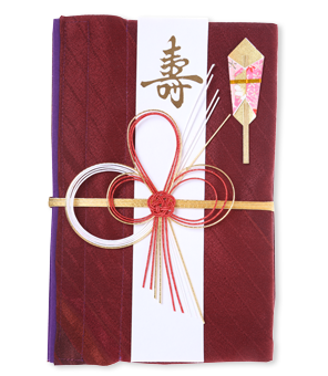 ご祝儀袋 結姫 赤松(シルク)紅斜虹美