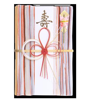 ご祝儀袋 結姫 赤松(シルク)絹織流線