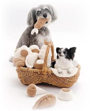オーガニックコットンの犬用おもちゃ