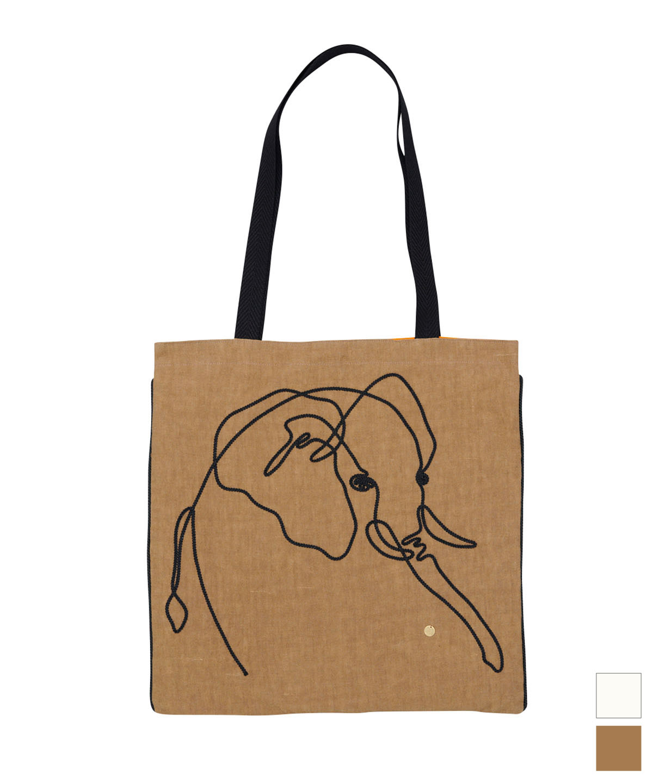 ゾウ刺繍バッグ