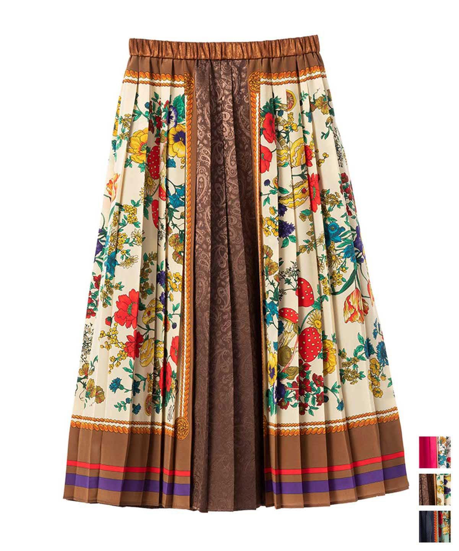 スカーフプリントスカート