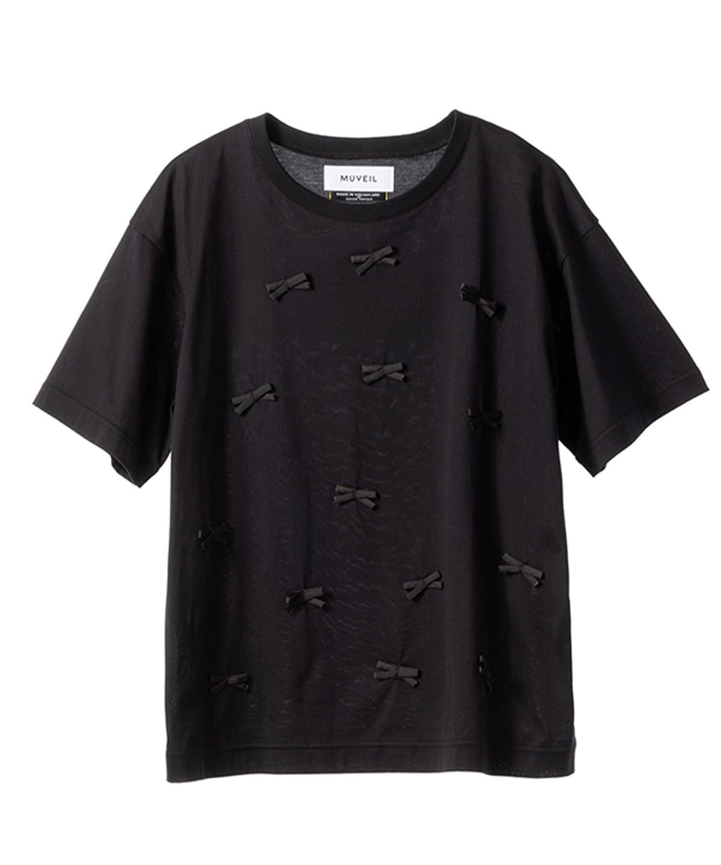 ブラックリボンTシャツ