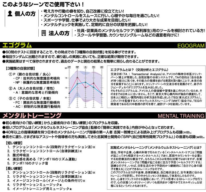 エゴグラム&メンタルトレーニング(Windowsアプリ)