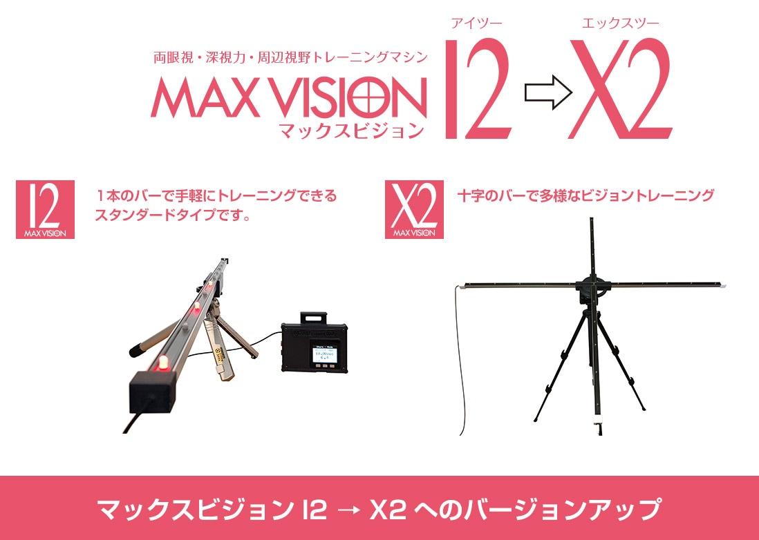 マックスビジョンX2へのバージョンアップ